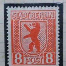 Sellos: SELLO ALEMEN, POST STADT BERLIN 8 PJG, 1945, NUEVO . Lote 148966642