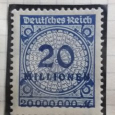 Sellos: SELLO ALEMAN, DEUTSCHE REICH, 20 MILLIOEN, AÑO 1923. Lote 149233082