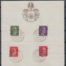 Briefmarken - ALEMANIA IMPERIO, 1945 MICHEL Nº 1 / 5, SELLOS LOCALES PERLEBERG, DOCUMENTO OFICIAL, - 149757986