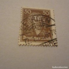 Sellos: ALEMANIA IMPERIO, 1926/27 YVERT Nº 388 MATASELLADO. Lote 150311266