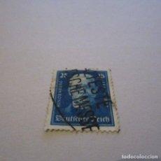 Sellos: ALEMANIA IMPERIO, 1927 YVERT Nº 396 MATASELLADO, HINDENBURG. Lote 150311978