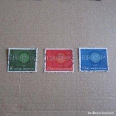 Sellos: ALEMANIA FEDERAL 1960 YVERT Nº 210/212, MATASELLADO TEMA EUROPA. Lote 150547358