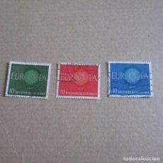 Sellos: ALEMANIA FEDERAL 1960 YVERT Nº 210/212, MATASELLADO TEMA EUROPA. Lote 150547426