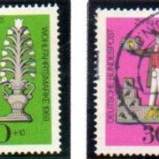 Francobolli: ALEMANIA.- SELLOS DEL AÑO 1969, EN USADOS. Lote 150791554