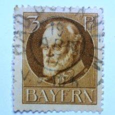 Sellos: SELLO POSTAL ALEMANIA - BAVIERA - BAYERN 1914 , 3 PF , REY LUDWIG III, USADO. Lote 150821258