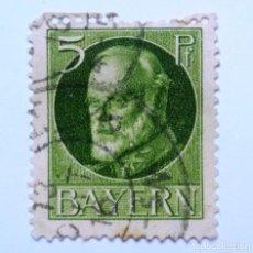 Sellos: SELLO POSTAL ALEMANIA - BAVIERA - BAYERN 1914 , 5 PF , REY LUDWIG III, USADO. Lote 150822202