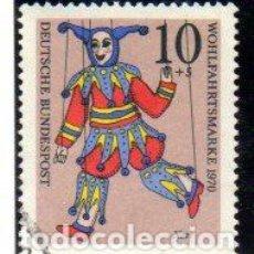 Francobolli: ALEMANIA.- SELLO DEL AÑO 1970, EN USADO. Lote 150825262