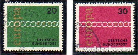 ALEMANIA.- SELLOS DEL AÑO 1971, EN USADOS (Sellos - Extranjero - Europa - Alemania)