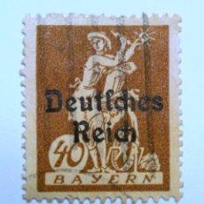 Sellos: SELLO POSTAL ALEMANIA - BAVIERA - BAYERN 1920 , 40 PF , RUEDA DE AGUA, WATHERWEEL, USADO. Lote 150828054