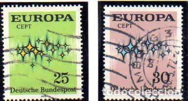 ALEMANIA.- SELLOS DEL AÑO 1972, EN USADOS (Sellos - Extranjero - Europa - Alemania)