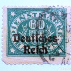 Sellos: SELLO POSTAL ALEMANIA - BAVIERA - BAYERN 1920, 60 PF , SCHIELD AND VALUE IN OVAL, USADO. Lote 150835502
