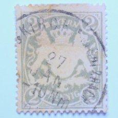 Sellos: SELLO POSTAL ALEMANIA - BAVIERA - BAYERN 1900, 2 PF , BAYERN ESCUDO DE ARMAS WM4, USADO. Lote 150838934