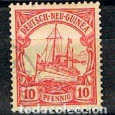 Sellos: NUEVA GUINEA, COLONIA ALEMANA,Nº 9, EL ACORAZADO ALEMÁN HOLENZOLLEN, NUEVO CON SEÑAL DE CHARNELA. Lote 151123586