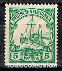 NUEVA GUINEA, COLONIA ALEMANA,Nº 8, EL ACORAZADO ALEMÁN HOLENZOLLEN, NUEVO CON SEÑAL DE CHARNELA (Sellos - Extranjero - Europa - Alemania)