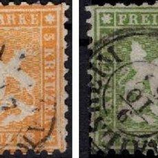 Sellos: ALEMANIA WURTEMBERG 1862 YVES 22 Y 23 YVES 23 CERTIFICADO V.CAT 265€. Lote 151165814