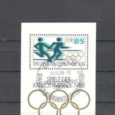 Sellos: ALEMANIA ORIENTAL DDR 1988 SCOTT 2696. HB JUEGOS OLIMPICOS SEUL.. Lote 151424450