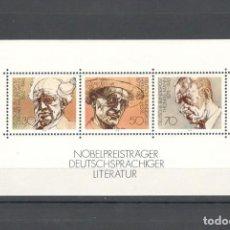 Sellos: ALEMANIA FEDERAL 1978 SCOTT 1267. HB PREMIOS NOBEL DE LITERATURA - MNH. Lote 151425486