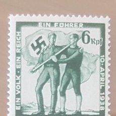 Sellos: SELLO DE ALEMANIA. DEUTSCHES REICH. 1938. NUEVO CON GOMA.. Lote 151448502