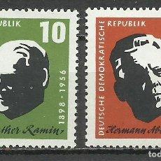 Sellos: ALEMANIA DDR - 1957 - MICHEL 604/605** MNH. Lote 151491094