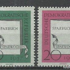 Sellos: ALEMANIA DDR - 1957 - MICHEL 598/599** MNH. Lote 151491354
