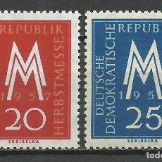 Sellos: ALEMANIA DDR - 1957 - MICHEL 596/597** MNH. Lote 151492158