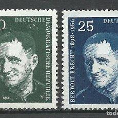 Sellos: ALEMANIA DDR - 1957 - MICHEL 593/594** MNH. Lote 151492298