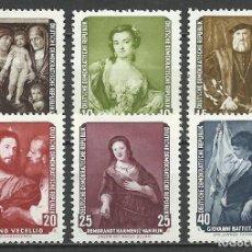 Sellos: ALEMANIA DDR - 1957 - MICHEL 586/591** MNH. Lote 151492578