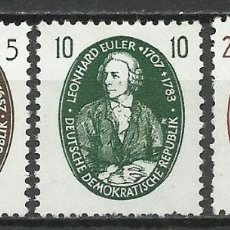 Sellos: ALEMANIA DDR - 1957 - MICHEL 574/576** MNH. Lote 151493510