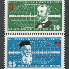 Sellos: ALEMANIA DDR - 1957 - MICHEL 572/573** MNH. Lote 151493574