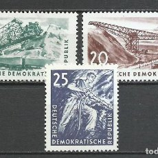 Sellos: ALEMANIA DDR - 1957 - MICHEL 569/571** MNH. Lote 151493622