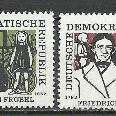 Sellos: ALEMANIA DDR - 1957 - MICHEL 564/565** MNH. Lote 151493762