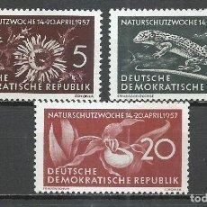 Sellos: ALEMANIA DDR - 1957 - MICHEL 561/563** MNH. Lote 151493818