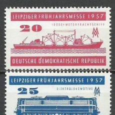 Sellos: ALEMANIA DDR - 1957 - MICHEL 559/560** MNH. Lote 151493850