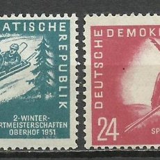 Sellos: ALEMANIA DDR - 1951 - MICHEL 280/281** MNH. Lote 151592570
