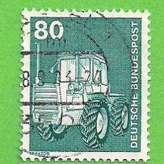 Sellos: ALEMANIA FEDERAL - MICHEL 853 - YVERT 702 - INDUSTRIA Y TÉCNICA - TRACTOR. (1975).. Lote 151605694