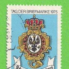Sellos: ALEMANIA FEDERAL - MICHEL 866 - YVERT 715 - DÍA DEL SELLO - ESCUDO DEL CORREO REAL DE PRUSIA. (1975). Lote 151606006
