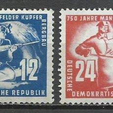 Sellos: ALEMANIA DDR - 1950 - MICHEL 273/274** MNH. Lote 151606818