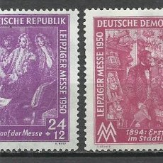 Sellos: ALEMANIA DDR - 1950 - MICHEL 248/249* MH. Lote 151607226