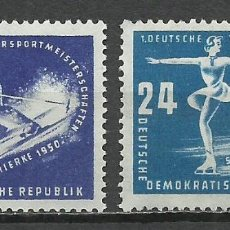 Sellos: ALEMANIA DDR - 1950 - MICHEL 246/247** MNH. Lote 151607290