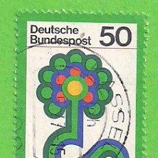 Sellos: ALEMANIA FEDERAL - MICHEL 927 - YVERT 774 - EXPOSICIÓN NACIONAL DE JARDINES, STUTTGART. (1977).. Lote 151608226
