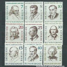 Sellos: ALEMANIA BERLIN CORREO 1957 YVERT 144/51 ** MNH PERSONAJES. Lote 151930612