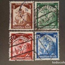 Sellos: ALEMANIA IMPERIO TERCER REICH 1935, YVERT 524-527, MICHEL 565-568. Lote 152392802