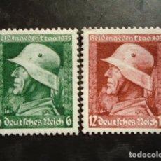 Sellos: ALEMANIA IMPERIO TERCER REICH 1935, YVERT 528-529**, MICHEL 569-570**MNH SIN CHARNELA. Lote 152394714
