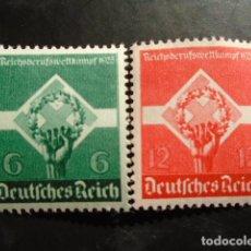 Sellos: ALEMANIA IMPERIO TERCER REICH 1935, YVERT 530-531** MICHEL 571-572** MNH SIN CHARNELA. Lote 152396930