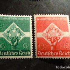 Sellos: ALEMANIA IMPERIO TERCER REICH 1935, YVERT 530-531** MICHEL 571-572** MNH SIN CHARNELA. Lote 152396966