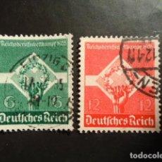 Sellos: ALEMANIA IMPERIO TERCER REICH 1935, YVERT 530-531 MICHEL 571-572. Lote 152397090