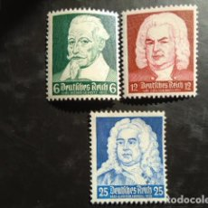 Sellos: ALEMANIA IMPERIO TERCER REICH 1935, YVERT 532-534** MICHEL 573-575** MNH SIN CHARNELA. Lote 152400194