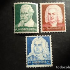 Sellos: ALEMANIA IMPERIO TERCER REICH 1935, YVERT 532-534** MICHEL 573-575** MNH SIN CHARNELA. Lote 152400690