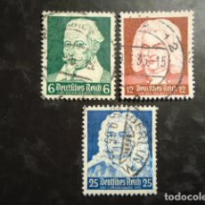 Timbres: ALEMANIA IMPERIO TERCER REICH 1935, YVERT 532-534 MICHEL 573-575. Lote 152401198