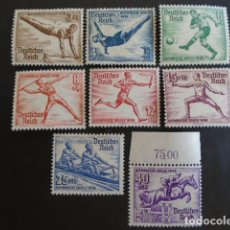 Sellos: ALEMANIA IMPERIO TERCER REICH 1936 YVERT 565-572 **MICHEL 609-616 ** MNH SERIE COMPLETA. Lote 152429126